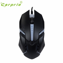 CARPRIE Luminous Mouses X7 For PC Laptop 1600 DPI USB Wired Optical Gaming Mice BK Mar7 MotherLander