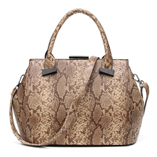 Women Leather Handbags Snake Women Bags Designer Famous Brands Tote Bag Ladies Bolsos Mujer Shoulder Bags