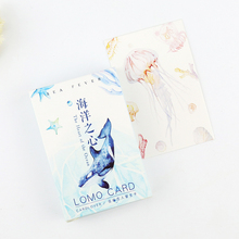 28 pcs/set Marine life mini Zakka card greeting card lomo memo card kids gift postcard kawaii stationery