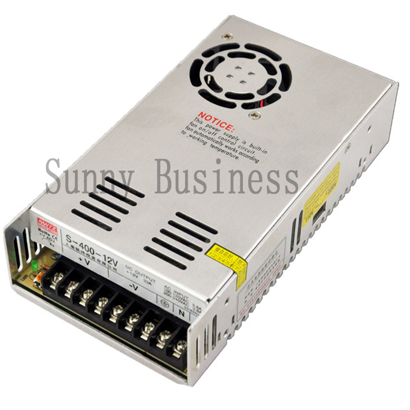 S-400-12 400W 12V 33A  Single Output Switching power supply for LED SMPS AC to DC<br>
