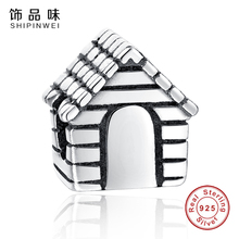 Shipinwei High Quality 925 Sterling Silver Sweet House Charm Beads Fit Pandora Original Bracelet Berloques Authentic Jewelry