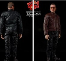 "Wild Toys WT19 Davidson Leather Jacket Reflection Skull 2 Color Scheme for 12""  Action figures in stock"