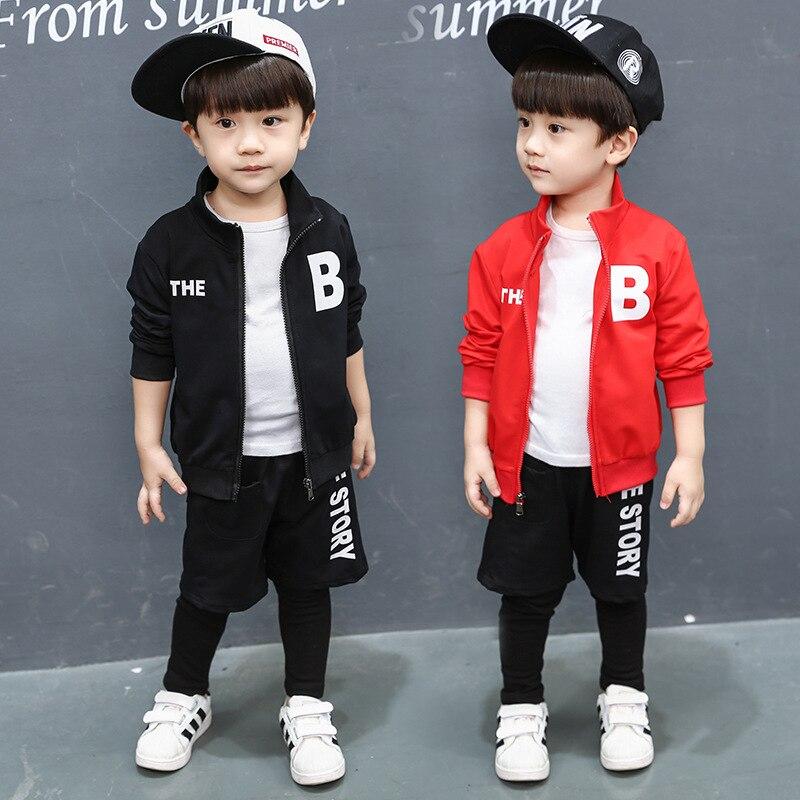 2018 Cotton Children Clothing Set Kids Outfit Sports Suit Set 2 Pieces Fashion Top + Pants Spring Autumn Casual Clothes Suit<br>