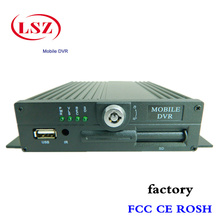 Source factory produces 4 road H.264, MOBILE, DVR car video recorder, high-definition car monitoring host mdvr(China)