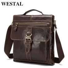 WESTAL Genuine Leather Bag Men leather Bags Messenger Bag Laptop Male Man Casual Tote Shoulder Crossbody bags Handbags Men 1292(China)