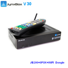2 pcs/Lot Jynxbox ultra hd v30  iks decorder With free Wifi adapter Twin Tuner JB200 ATSC Module  for North America