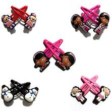 5Pairs Lovely Cartoon Doc Mcstuffins PVC Cute Hair Clips Headwear baby Girl Hair Accessories KIDS Girl's Gift Hair Jewelry(China)