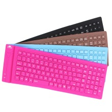 108 keys Foldable Waterproof Universal Portable Bluetooth Wireless Soft Silicone Keyboard for ipad iphone Samsung Smart mobile(China)