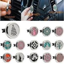 Simple Style Colors Stainless Car Air Auto Vent Freshener Essential Oil Diffuser Gift Locket Decor Support US Overseas Warehouse