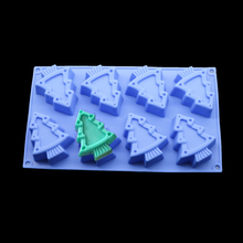 Christmas Decoration Fondant Cake Mold Silicone Bakeware Cookie Embossing Tools Handmade Natural Soap Making Stencil(China)