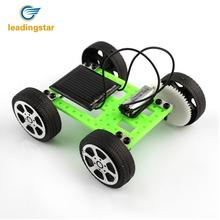 LeadingStar Green 1pcs Mini Solar Powered Toy DIY Car Kit Children Educational Gadget Hobby Funny Toy(China)