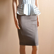 Original Good Brand Stretch Faux Leather Women Skirt Fashion Empire Pencil Solid Skirts For Women Office Stylish Skirt CK279