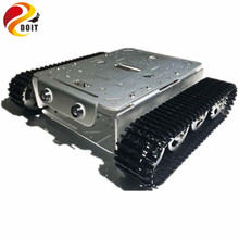 Official DOIT Caeser TD200 4WD Double Tracked Metal Remote Tank Car Chassis with Aluminum Alloy Wheels Smart Robot Toy for DIY