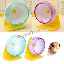 Plastic Silent Hamster Mouse Rat Mice Exercise Running Spinner Wheel Pet Toy not include the yellow hold