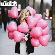 10pcs/lot Romantic 2.2g Pink Heart Love Latex Helium Balloon Inflatable Wedding Decoration Party Balloon Birthday Party Supplies