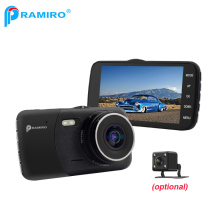 Car DVR Camera Dash Camera T600 Car Camcorder 4.0'' IPS Screen Metal Frame Case Novatek 96658 AR0330 Dual cam video recorder(China)