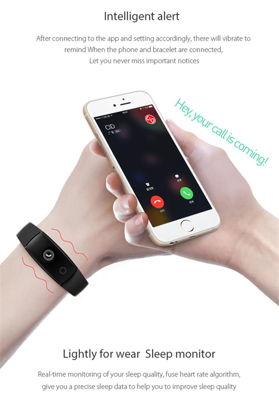 Teamyo New V05C Smart Band Pulse Heart Rate Monitor Smart Wristband Fitness Tracker Pedometer Sleep Tracker IOS Android Bracelet 13