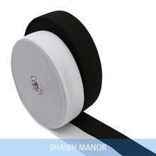 30MM White/Black Colored Elastic Ribbon Polyester Knit Baired Sewing Elastic Webbing Band 40Yards/Roll Wholesale(China)