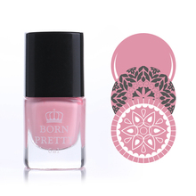 1 Bottle 6ml Pink Born Pretty Stamp Stamping Nail Polish Nail Art Varnish Nail Plate Printing Polish #16(China)