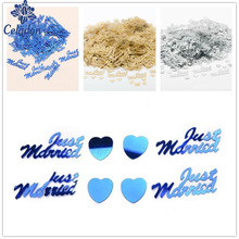"Hot Selling ""Just Married"" Table Party Scatters Confetti Gold/ Silver/Red/Pink/Blue Wedding Party Supplies Decorating Accessorie"