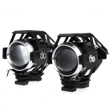 2Pcs/Set LED Motorcycle Headlight 125W U5 Waterproof LED Fog Light 3000LM Motorcycle Light Driving Spot Head Lamp Moto Headlight