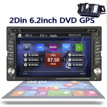 Double din Car Stereo Head Unit Deck 6.2 inch GPS Navigation Bluetooth Steering Wheel Control iPod AM FM Radio SD/USB camera(China)