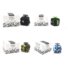 1pcs Special Color Fidget Cube Original + 1pcs Paper Retail BoxHand Spinner Clickable Ball Puzzles Magic Toys for Gift