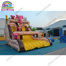 Easy Set Above Ground Inflatable,Slides Bounce Land Water Slide palm tree slide sandal Inflatable Slide