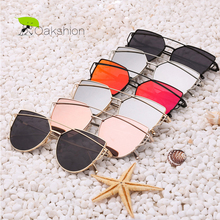 Buy Womens Sunglasses Trendy Cat Eye Fashion Sunglasses Brand Woman Vintage Rose Gold Pink Sun Glasses Women Shades lunettes for $3.99 in AliExpress store