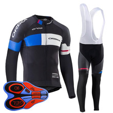 Long sleeve cycling suits Silica gel pad supersize cycling shorts Prevent bask in quick-drying cycling jerseys Mtb Bike Clothing(China)