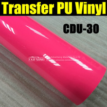 NEON PINK CDU-30 Garment PU transfer heat film for cutter plotter using with size:50*100cm(1yard)/lot by free shipping