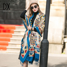 2017 Winter luxury Brand New Women Fashion Scarf Oversize Blankets Wrap Soft Cashmere plaid Square Shawl Size Pashmina Scarves(China)