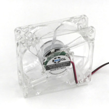 pc computer fan 80mm with 4ea led 8025 8cm silent DC 12V LED luminous chassis molex 4D plug axial fan