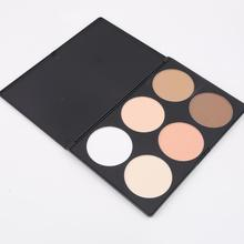 1pcs Professional 6 Color Pressed Powder Palette Concealer Nude Makeup Contour Cosmetic Drop Shipping Wholesale Best Selling