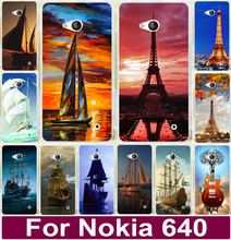 Smooth Sailing Ship Pirate Ship The Eiffel Tower Painting Phone Capa Case For Nokia Lumia 640 N640 Cell Phone Cases Cover Shel(China)