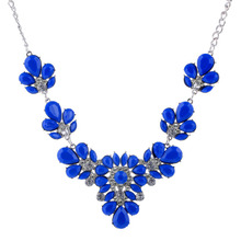 ZOSHI Luxury Colorful Crystal Maxi Choker Necklace For Women Vintage Statement Necklaces & Pendants Flower Design Collar Hot