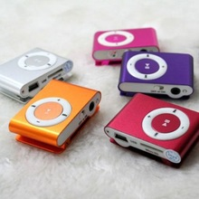 Metal Clip  Mini  MP3 Music Media Player with  Support Micro SD TF  Digital Mp3 players(20pcs/lot )