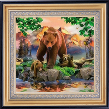 Diamond Embroidery Nature Home Decoration Painting Diamond Mosaic Cute Grizzlies Pictures By Numbers Diamant Schilderen