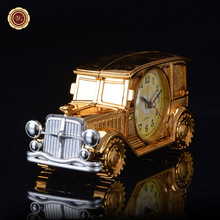 WR Gold Car Model Luxury Desktop Clock Table Decoration New Year Gift Xmas Gift Birthday Surprise