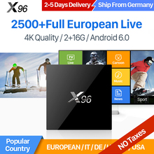 X96 TV Box Smart 4K Ultra HD 2GB 16GB Android 6.0 Movie Sports Europe IPTV 1 Year IUDTV Subscription IPTV Swedish Greek IPTV Box(China)