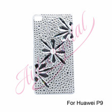 Aidocrystal bling bling Ice flowers for huawei p9 design your own hard cell phone cases cheap cell phone accessories(China)