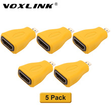 VOXLINK 5 Pack 1080p Micro HDMI Type D Male to HDMI Type A Female Gold Plated Adapter Converter Connector For HDTV HDMI Converte(China)