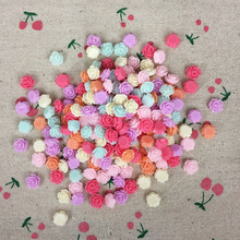 200Pieces Mixed Color Flatback Flat Back Resin Flower Kawaii Cabochon DIY Resin Craft Decoration Sewing Accessories Charm:8mm(China)