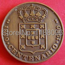 Wholesale replica coins for sale Hot Shield Crown Cross Coin Replica Centenary Bronze Medal cheap custom made imitation coin(China)