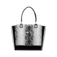 Snake Luxury Handbags Women Bags Designer High Quality Patent Leather Big Tote Bag Large Capacity Wings Trapeze Bag Sac Femme