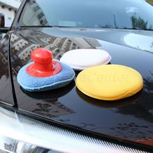 4Pcs/Set Car Wax Wash Polish Pad Sponge Cleaning Foam Kit Terry Cloth Microfiber Applicator Pads W/ Gripper Handle Car-Styling(China)