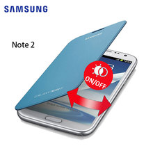 100% Original Samsung Galaxy Note 2 Case Plastic Case Leather Cover Flip Cover Protective Shell For Samsung Galaxy Note 2 N7100(China)