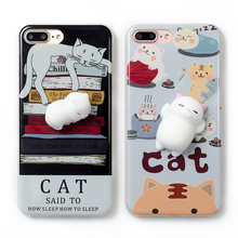Lovely 3D Cute Soft Silicone Squishy Cartoon Cat phone case For Oppo F3 plus F1 plus R9 Cover Animal Kitty fashion Coque funda