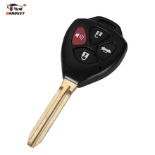 DANDKEY 4 Button Remote Key Case Shell Fob And Uncut Blade For TOYOTA Corolla Avalon Camry Matrix RAV4 Venza Yaris(China)