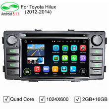 Pure Android 5.1.1 Auto PC Car DVD GPS For Toyota Hilux 2012 2013 2014 With 4G WiFi OBD DVR Stereo DVD Navigation System